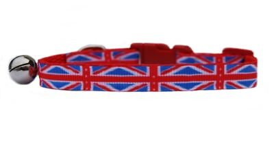 "The Royal Wedding  RED WHITE & BLUE  ""UNION JACK ""  safety kitten cat collar"