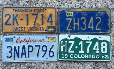 4 More Rough Condition Number Plates From Different American States