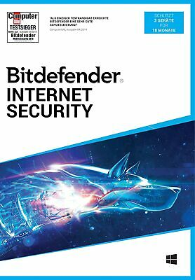Bitdefender Internet Security 2018 f. Windows | 1, 3, 5, 10 PC | 1, 2 u. 3 Jahre
