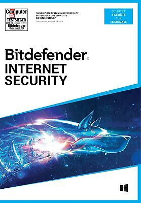 Bitdefender Internet Security 2019 f. Windows | 1, 3, 5, 10 PC | 1, 2 u. 3 Jahre