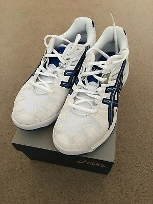 ASICS Gel Resolution Size 5 brand new with box blue and white