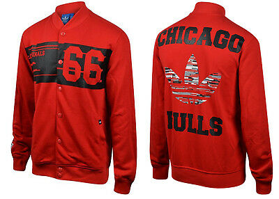 ADIDAS ORIGINALS CHICAGO BULLS TT COLLEGE JACKE NBA rot