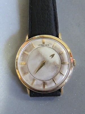 Vintage, Longines, 10K Gold Filled, Mystery Dial, Manual Wind, Mens Watch