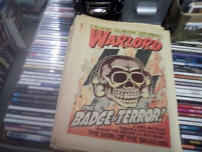 50 Vintage Warlord War Comics Issues 137-187  Missing 139 Good Condition