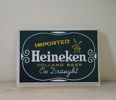 Heineken Beer Bar Lighted Sign Cover ~ Plastic Beer Sign Cover ~ Advertising