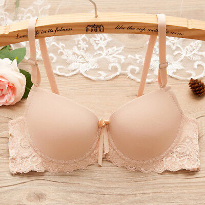 Women Push Up Lace Bra Brassiere Underwire Padded Lingerie Underwear A B C Cup #