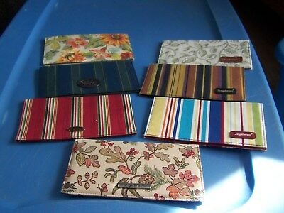 lot of 7 Longaberger Checkbook Cover