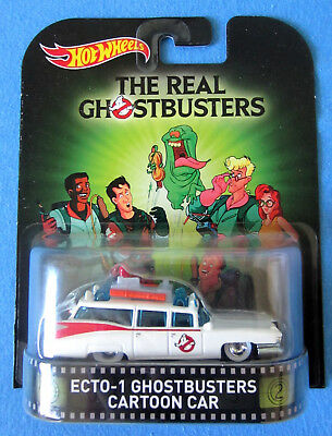 Hot Wheels Ghostbusters Ecto-1 Cartoon Retro Entertainment NEU Real Riders
