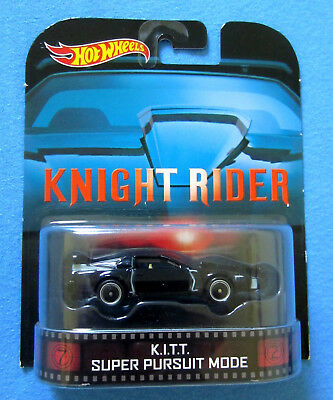 Hot Wheels KITT Super Pursuit Mode Retro Entertainment Real Riders Knight Rider