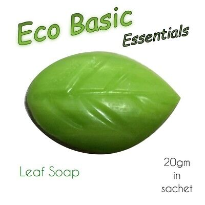 100 x Guest soaps 20g - Leaf soap in a  Sachet for Hotel Motel Travel BnB Guest