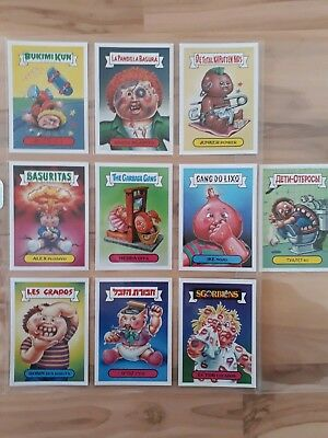 Garbage Pail Kids 30th anniversary Foreign Legion Set 10/10 Complete . Mint ....