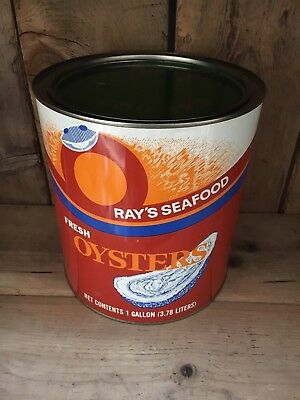 Rays Seafood Oyster Tin Can Crisfield Md. stamped MD 570