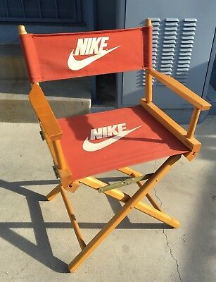 VTG 80's 90's Nike Swoosh Just Do It Director's Chair Store Display Orange Used