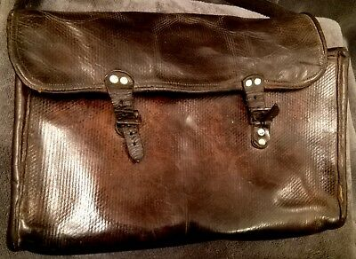 GENUINE RARE 19th Century French Town Cryer's Bag/Messenger Bag. Antique.