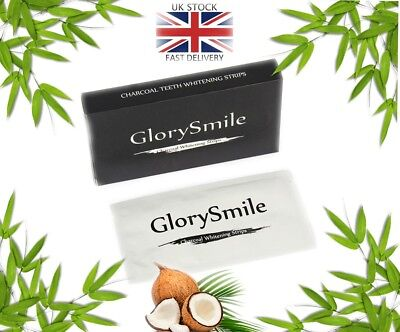 Teeth Whitening Strips 28 Activated Charcoal Powder GLORY SMILE tooth toothpaste