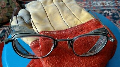 Vintage / Antique Wire rim  Welding Safety Glasses Goggles DH Steam Punk Clear