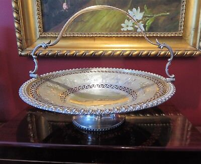 Victorian John Sherwood & Sons Silver-plate Ornate Bridal Fruit Basket