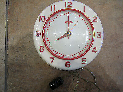 Vintage Smiths Sectric Wall Clock c1950's/60's