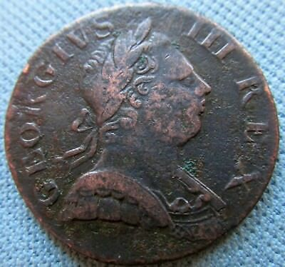 1773 King George III British US Colonial Non Regal Halfpenny- Small Date Variety