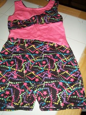 Girl's Freestyle Sleeveless Gymnastic,dance Unitard Size 7/8