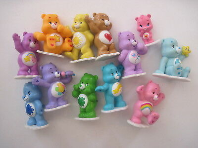 Care Bears Deluxe Figure Set of 12 with Baby Wonderheart Bear Harmony Bear