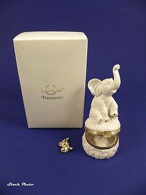 FACTORY SEALED- Lenox Treasures: The Good Luck Elephant Box with Gold Charm