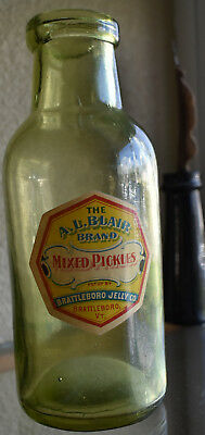 Citron Pickle with label The A.L.Blair brand,mixed pickles,Brattleboro Jelly co.