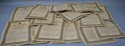 LOT of 20 Imperial Gov of Russia 5.5% Short-Term State War Bonds 1916 w/ tickets