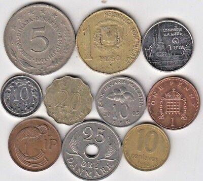 Lot 10 coins World , LOOK (A443) ***FREE SHIP***