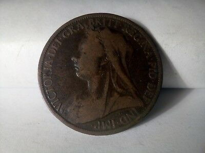 Great Britain one penny 1901 Queen Victoria   (A193)