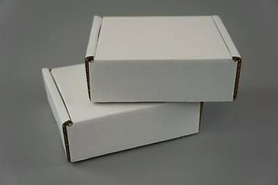 50 White Postal Cardboard Boxes Mailing Shipping Cartons Small Size Parcel OP7