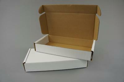 50 White Postal Cardboard Boxes Mailing Shipping Cartons Small Size Parcel OP10