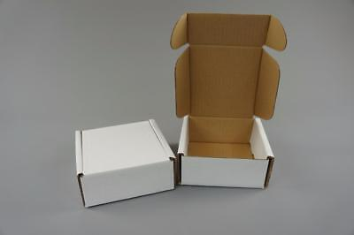 50 White Postal Cardboard Boxes Mailing Shipping Cartons Small Size Parcel OP6