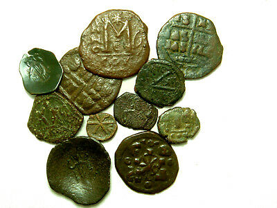 Lot of 11 Byzantine coins - Various denominations and emperors