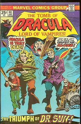 The Tomb Of Dracula 7 Issues #39 40 41 42 43 44 45 1972 Gene Colan