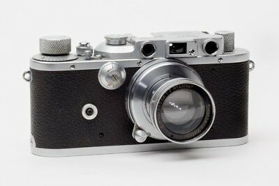 Leica IIIa camera with flash sync S/N254369 with Leitz Summar 5cm f2 Lens