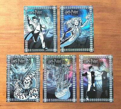 2006 Artbox Harry Potter & the Goblet of Fire (Update) - 5 Foil Puzzle Cards