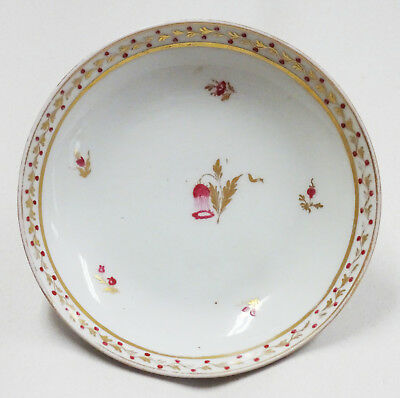 Lovely Early 1800's Hand Painted Porcelain Dish Bowl with Flowers