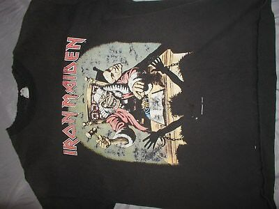 the best attitude 180fb 5b416 RARE VINTAGE 1990 Iron Maiden deaf sentence t shirt XL first 10 years #36