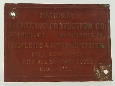 Early National Lightning Rod Installers Tag