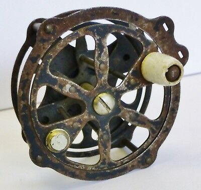Antique Skeleton Fly Fishing Reel Vintage Tackle UNKNOWN