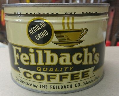 Feilbachs Coffee Can Toledo Ohio Regular Grind Super Condition.