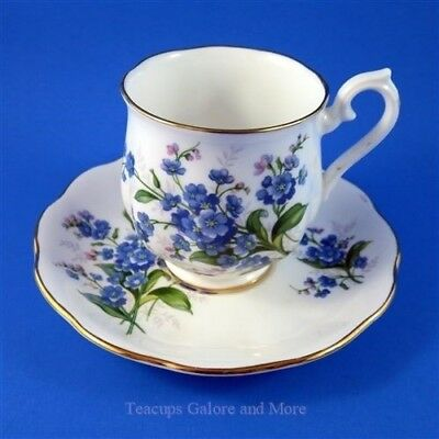 Royal Albert Forget Me Not Small Demitasse Tea Cup and Saucer Set