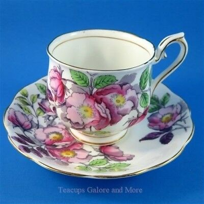 Royal Albert Flower of the Month Dog Rose #6 Tea Cup and Saucer Set