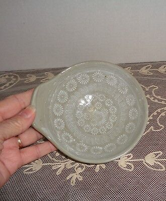 Japanese Korean Celadon Style Pottery Bowl Green with White Signed
