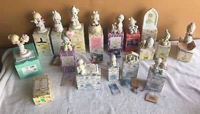 Precious Moments lot of 17 Figurines Excellent Condition, Original Boxes MUST C!