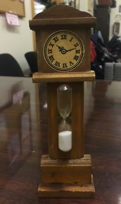Vintage Old Wooden Grandfather Clock Hourglass Timer, V.G. Company Japan