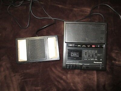 Panasonic RR-930 Microcassette Transcriber & Foot Pedal TESTED WORKING