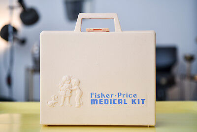 Fisher Price MEDICAL KIT Kinder Arztkoffer 1977 - Vintage Spielzeug - Komplett
