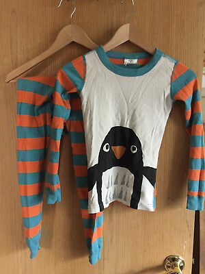 Hanna Andersson, Organic Cotton Pajamas with Penguin, Size 130 (US 8)